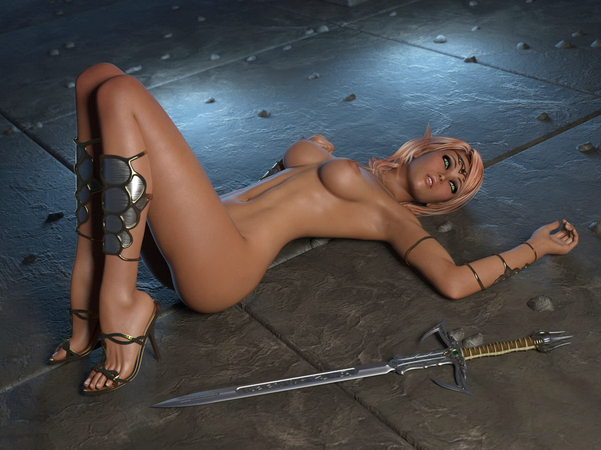 3d adult cartoon of busty blonde warrior  erotic streaming